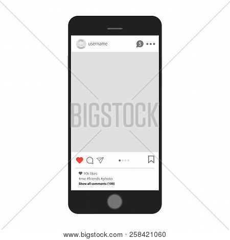 Social Network Profile On Smartphone. Internet Communication And Social Network On Your Tablet Or Sm