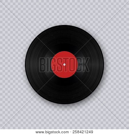 Vinyl Record. Retro Sound Carrier. Retro Sound Carrier. Gramophone Vinyl Lp Record Template Isolated