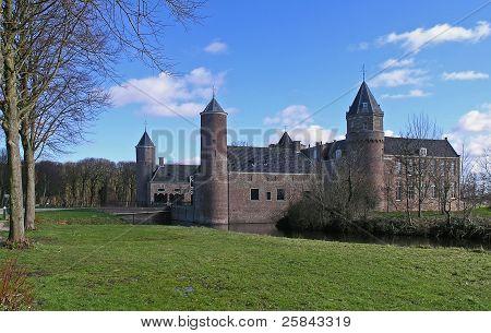 Castle under a blue sky
