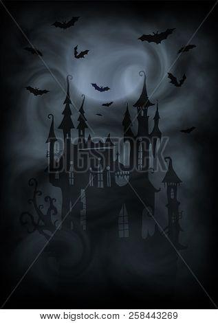 Halloween Vector Black And White.Black White Halloween Vector Photo Free Trial Bigstock