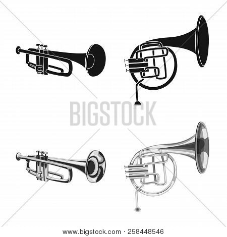 Vector Design Of Music And Tune Symbol. Collection Of Music And Tool Stock Symbol For Web.