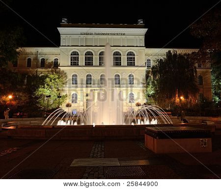 Downtown Szeged At Night