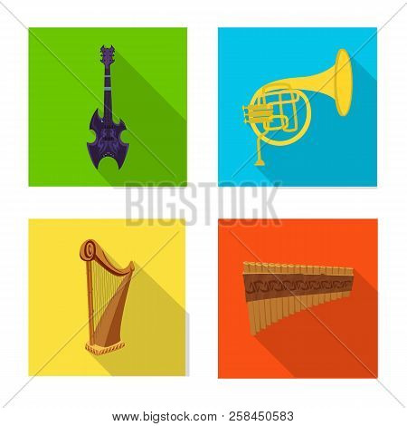 Isolated Object Of Music And Tune Symbol. Set Of Music And Tool Stock Vector Illustration.