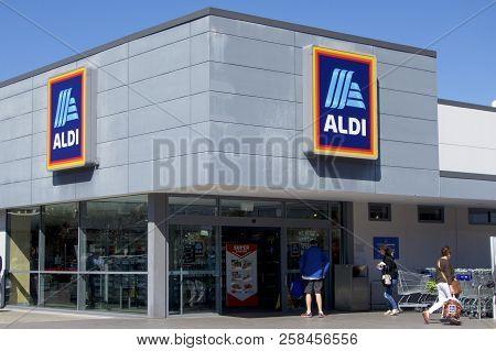 Newcastle, Nsw, Australia - August 15, 2018: Aldi Stores In Australia Have Attained About 10 Percent
