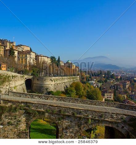 Bergamo old town, Italy