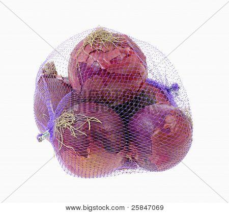 Red Onions Purple Net Bag