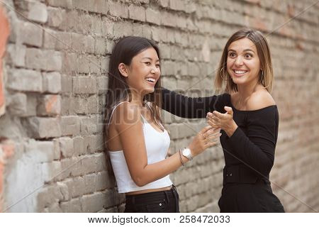 Lgbt Lesbian Women Couple Moments Happiness. Lesbian Women Couple Together Outdoors Concept. Lesbian