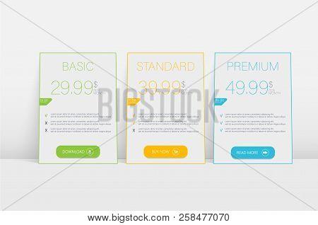 Price List. Infographic Element. Web Element. Vector Circle Infographic. Infographic Design. Web Ele