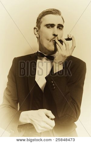 Retro Portrait Of An Adult Man