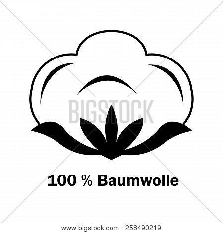 Cotton Boll Or Flower. Line Art Icon For Apps And Websites