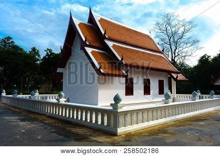 Pavilion in Sukhothai Province Thailand. Wat Srichum in Sukhothai Historical Park is a historic site. poster