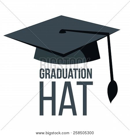 Graduation Hat Vector. Black Academic Student Cap. Education Icon. Finish Education Symbol. Isolated