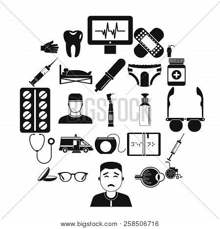 Care Of Relatives Icons Set. Simple Set Of 25 Care Of Relatives Vector Icons For Web Isolated On Whi