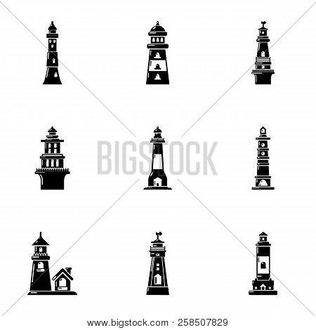 Landmark Icons Set. Simple Set Of 9 Landmark Vector Icons For Web Isolated On White Background