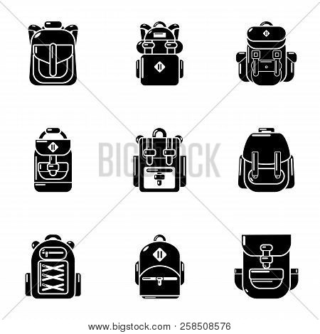 Packsack Icons Set. Simple Set Of 9 Packsack Vector Icons For Web Isolated On White Background