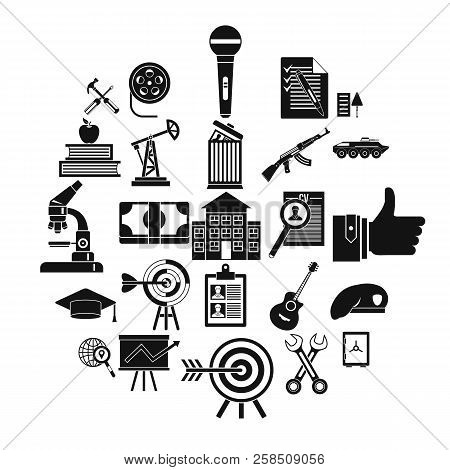 Successful Career Icons Set. Simple Set Of 25 Successful Career Vector Icons For Web Isolated On Whi