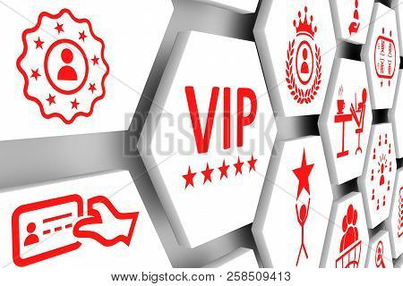 Vip Concept White Cell Background 3d Illustration