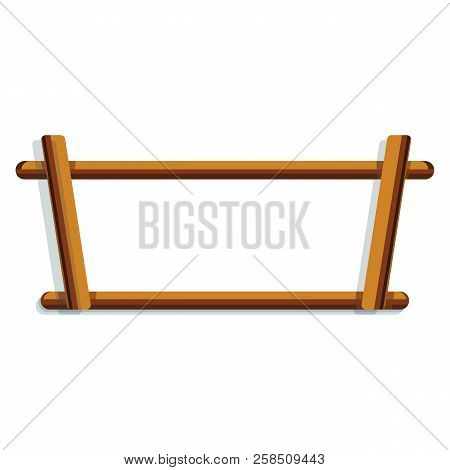 Wood Rack Icon. Cartoon Of Wood Rack Vector Icon For Web Design Isolated On White Background
