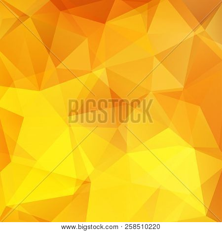 Abstract Background Consisting Of Yellow, Orange Triangles. Geometric Design For Business Presentati