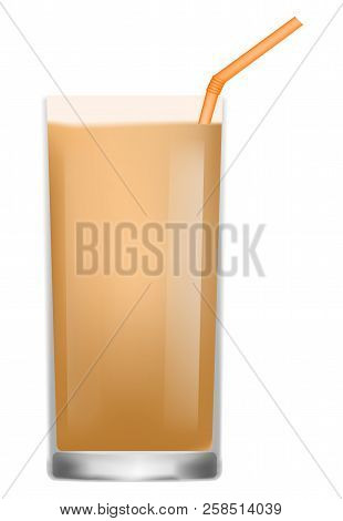 Frosty Drink Icon. Realistic Illustration Of Frosty Drink Vector Icon For Web Design Isolated On Whi