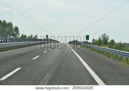 View On The Bridge Of Tagliamento, Motorway A23, Italy
