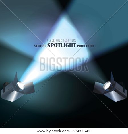 Vector light Projectors with spotlights