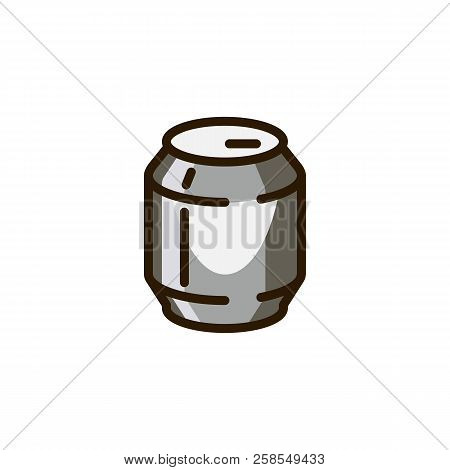 Beverage Tin Can Icon. Metal Packing Of Beer, Lemonade, Soda, Carbonated Drink. Alcoholic And Nonalc