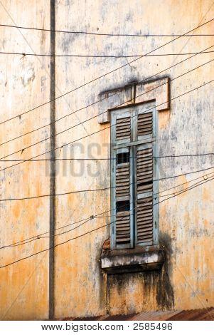 Rundown Window And Wall