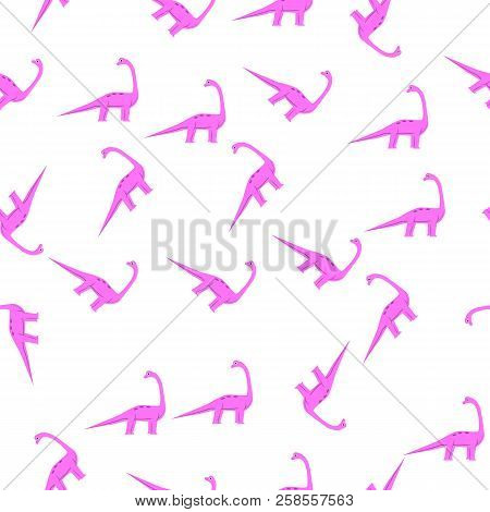 Brachiosaurus Icon In Pattern Style. One Of Dinosaurus Collection Icon Can Be Used For Ui, Ux
