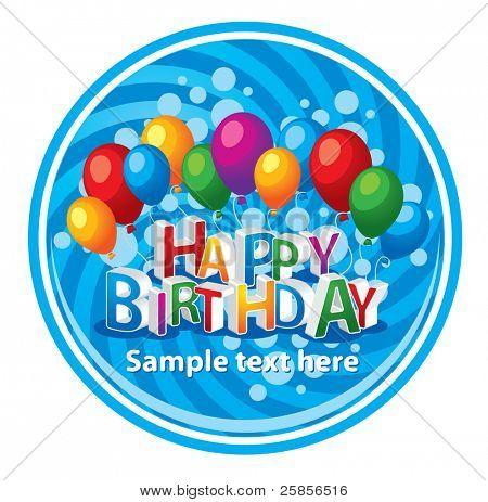 Happy birthday background. Vector template