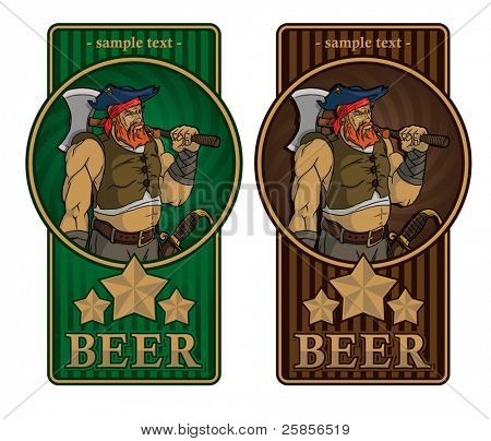 Beer label with a pirate
