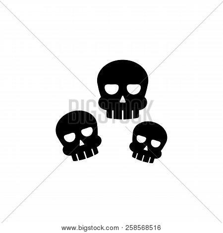 Skulls Icon. Element Of Ghost Elements Illustration. Thin Line  Illustration For Website Design And