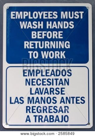 Employees Wash Hands