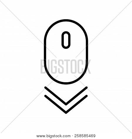 Scroll Down Mouse Icon. Vector Scrolling Mouse Sybmol For Web Design Isolated On Transparent Backgro