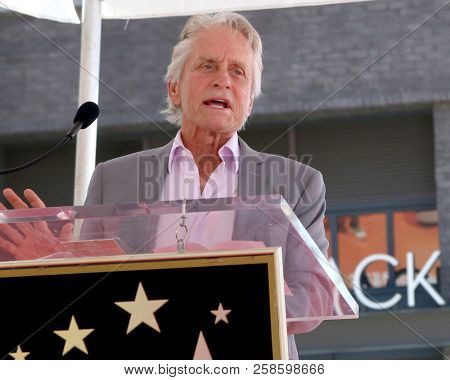 LOS ANGELES - SEP 13:  Michael Douglas at the Eric McCormack Star Ceremony on the Hollywood Walk of Fame on September 13, 2018 in Los Angeles, CA