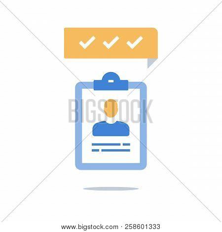 Human Resources, Recruitment Concept, Fast Services, Opinion Poll, Fast Survey, Enrollment Program,