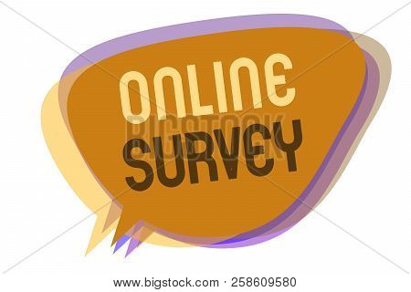 Word Writing Text Online Survey. Business Concept For Reappraisal Feedback Poll Satisfaction Rate Te