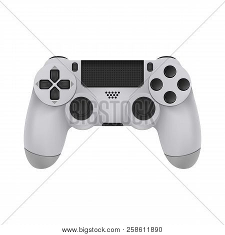 Realistic Mock-up Modern Game Controllers. Gamepad From The Game Console Isolated On A White Backgro