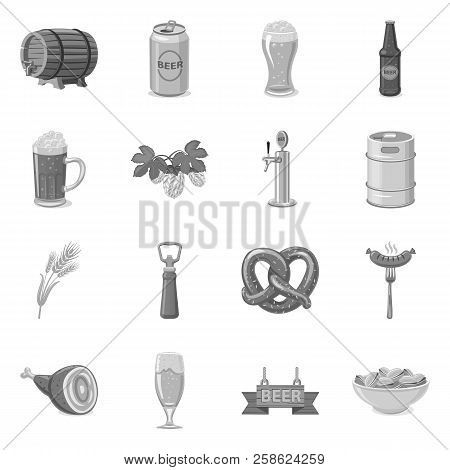 Isolated Object Of Pub And Bar Icon. Set Of Pub And Interior Stock Vector Illustration.