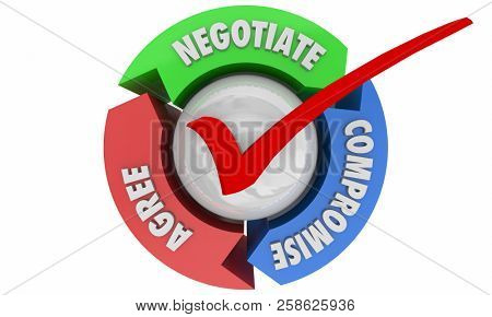 Negotiation Compromise Agree Settle Deal 3d Illustration