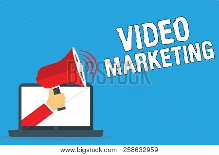 Writing Note Showing Video Marketing. Business Photo Showcasing Create Short Videos About Specific T