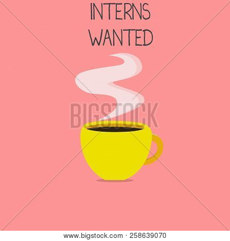 Conceptual Hand Writing Showing Interns Wanted. Business Photo Text Looking For On The Job Trainee P