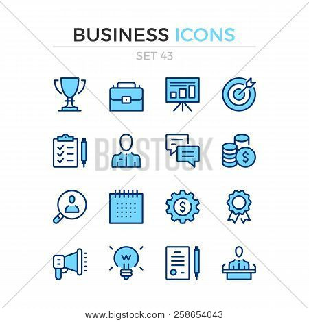 Business Icons. Vector Line Icons Set. Premium Quality. Simple Thin Line Design. Modern Outline Symb