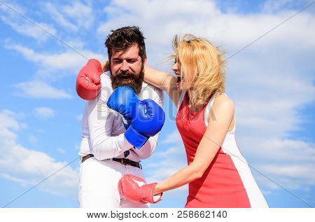 Attack Is Best Defence. Defend Your Opinion In Confrontation. Female Attack. Relations Family Life A