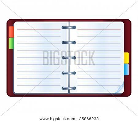 vector illustration of organizer