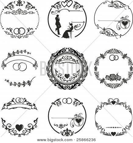 Round Frame Wedding Rings