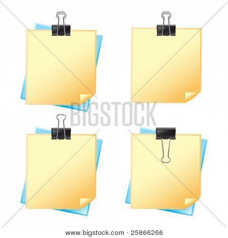 vector illustration of paper with fastener