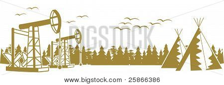Forest Plague And Oil Pumping...