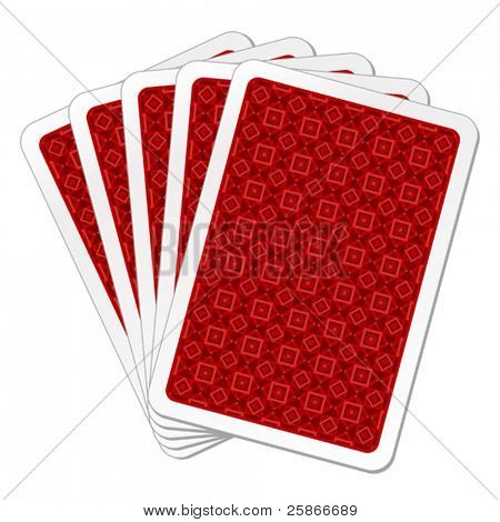 vector illustration of back playing cards