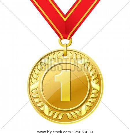 vector illustration of medal